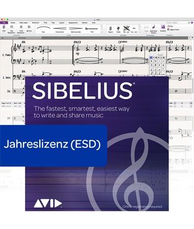 Sibelius Subscription (Miet-Lizenz) - 12 Monate