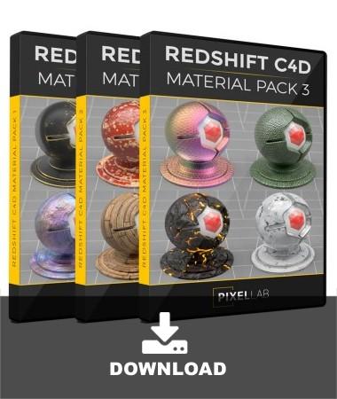 pixel-lab-redshift-c4d-material-pack-bundle