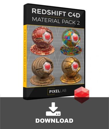 PixelLab-Redshift-C4D-MAT2-Pack