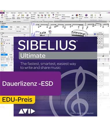 Sibelius Ultimate Education inkl. 12 Monate Software Updates + Std. Support Plan